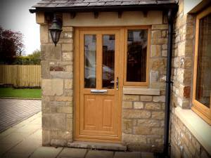 Irish Oak PVC-u composite door - Ingleton, North Yorkshire