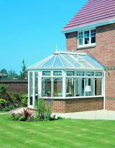 Victorian 3 Facet White Conservatory