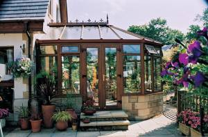 Brown Victorian Style Conservatory