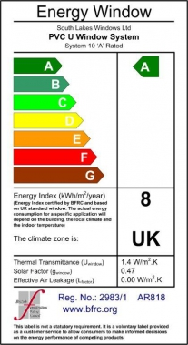 A Rated Energy Saving Windows Certificate