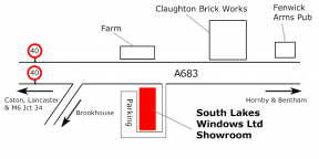 South Lakes Windows - Lancaster Showroom Map